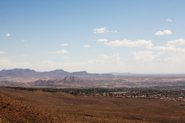 The borders of Mexico, Texas and New Mexico converge in a view from Franklin Mountains State Park in El Paso.
