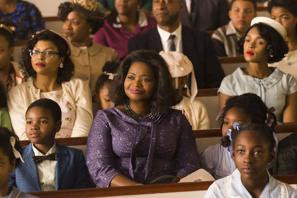"""They were moms and they were dreamers and they had fierce natures,"" says actress Octavia Spencer (center). She plays NASA supervisor Dorothy Vaughan alongside Taraji P. Henson (left) as mathematician Katherine Johnson and Janelle Monáe (right) as engineer Mary Jackson."