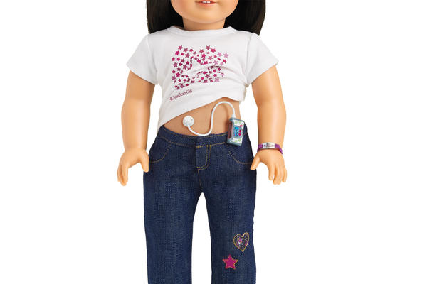 "The ""Diabetes Care Kit,"" designed to fit American Girl dolls, comes with insulin pumps, pens, glucose tablets and a blood sugar monitor."
