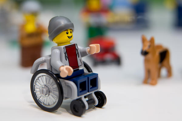 "A Lego figure in a wheelchair was introduced at the 67th International Toy Fair in January 2016. He comes in the ""City"" set, a community of figures shown playing and working in an urban park setting."