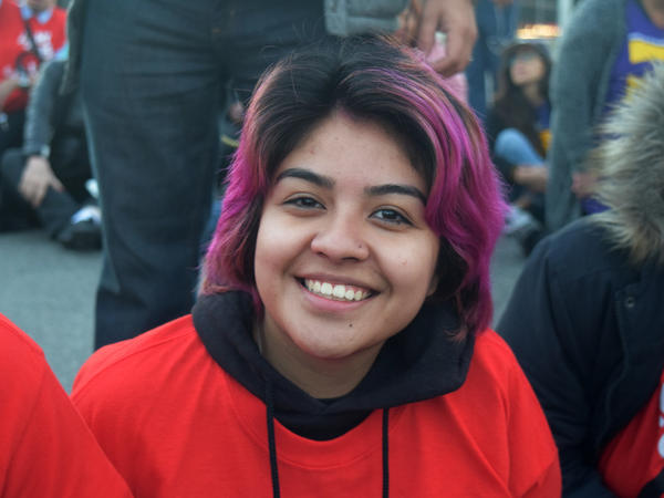 Anggie Godoy started working as a McDonald's drive-through cashier three years ago, making $8 an hour. Since then, the Los Angeles City Council raised the minimum wage to $10.50. Without the city's new law, she says, she would only have seen a tiny increase.