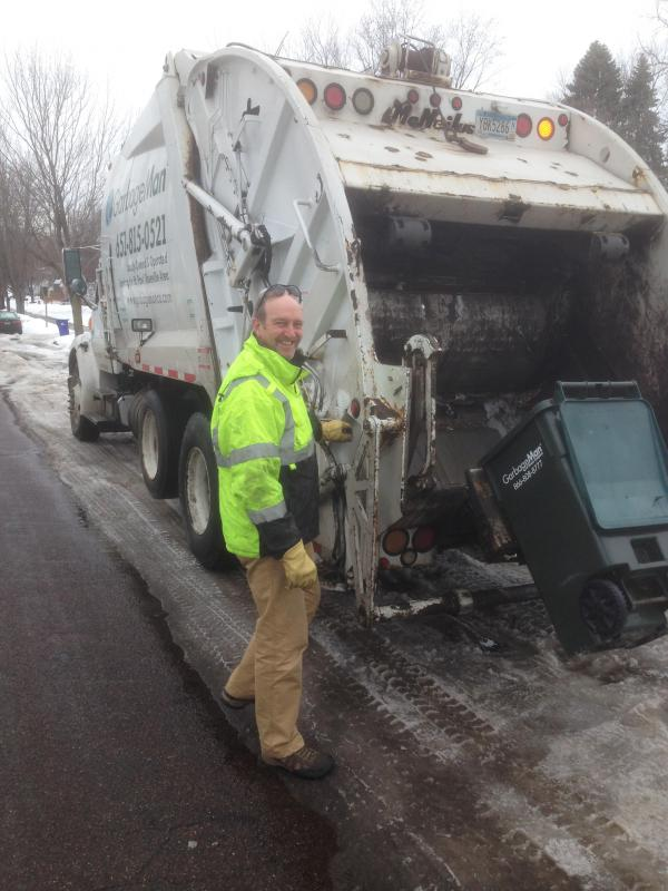 John Marboe is a Lutheran pastor in St. Paul, Minn., and an adjunct professor at the University of Minnesota, but says he keeps hauling trash because it's important.