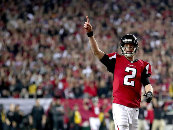 Matt Ryan of the Atlanta Falcons — depicted here with one finger raised in the NFC Championship Game — helpfully illustrates an important number: the total Super Bowls the Falcons organization will have won, if they win Sunday.