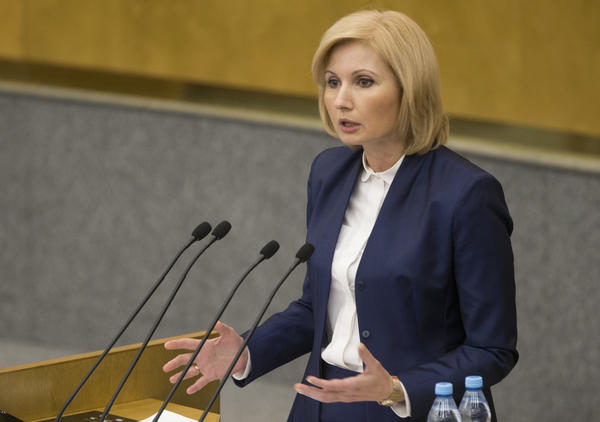 Russian lawmaker Olga Batalina is one of two female legislators who coauthored the domestic violence bill that was recently signed into law.