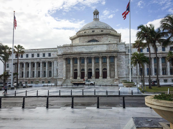 The Capitol of Puerto Rico, <em>Capitolio de Puerto Rico,</em> in San Juan. Puerto Rico is under federal control, but isn't allowed voting representation in Congress, and residents can't vote for president.