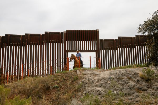 An opening in the border wall for cattle to move from Mexico to the States. Arizona has just three cattle ports along its entire border.