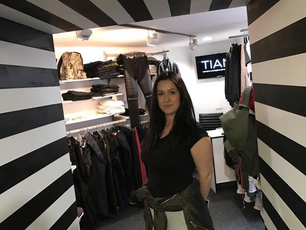 Designer Anastasiya Rudnik is a co-owner of the Ukrainian Street Wear shop in central Kiev.