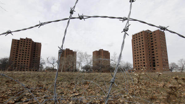 Federal housing policies created after the Depression ensured that African-Americans and other people of color were left out of the new suburban communities — and pushed instead into urban housing projects, such as Detroit's Brewster-Douglass towers.
