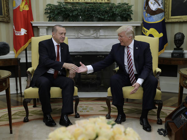 President Trump hosted Turkish President Recep Tayyip Erdogan in Washington on Tuesday.