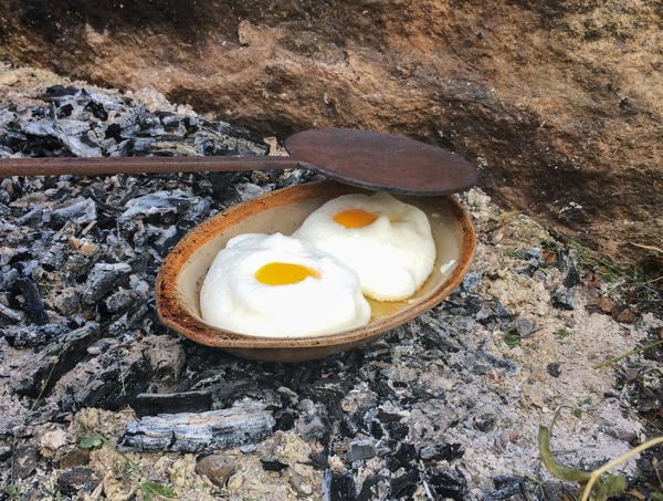 Food historian Paula Marcoux decided to follow the 1651 recipe for Eggs in Snow, using the period cooking tools it called for. Instead of an oven, she placed the eggs on a buttered dish over hot coals and heated it from above using a hot fire shovel called a salamander. The result was surprisingly delicious, she says — and yes, it was basically cloud eggs.