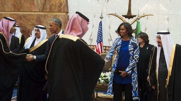 President Trump had criticized then-first lady Michelle Obama for not wearing a headscarf while in Riyadh, Saudi Arabia, in 2015.