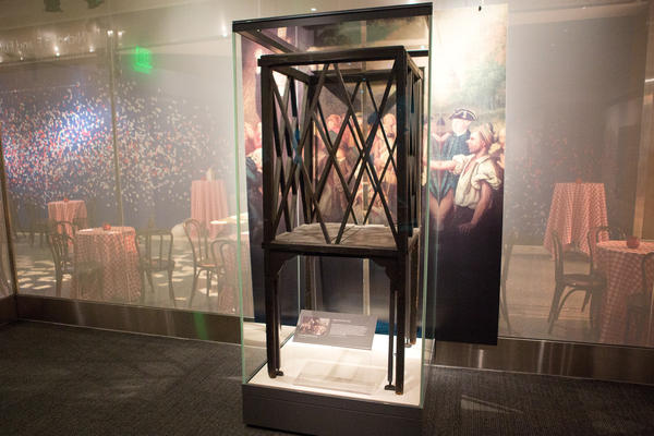 A six-foot-tall pulpit that George Whitefield, an outspoken and controversial preacher, carried around because he was not allowed inside many churches.