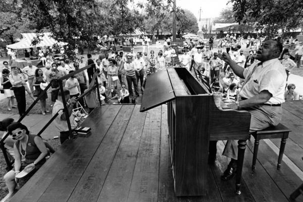 Roosevelt Sykes performs at the inaugural Jazz Fest in 1970.