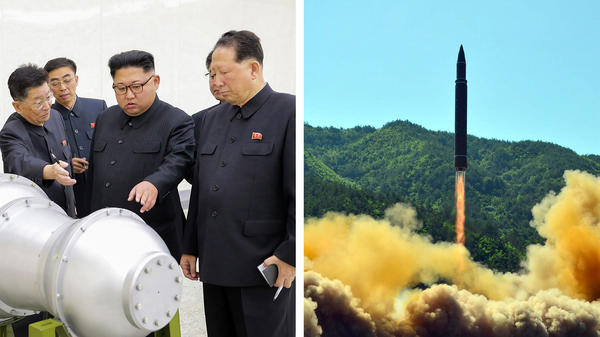 So far North Korea has tested its nuclear weapons (left) separately from the missiles meant to carry them (right). Testing the two systems together would be a dangerous but definitive way to prove they work.