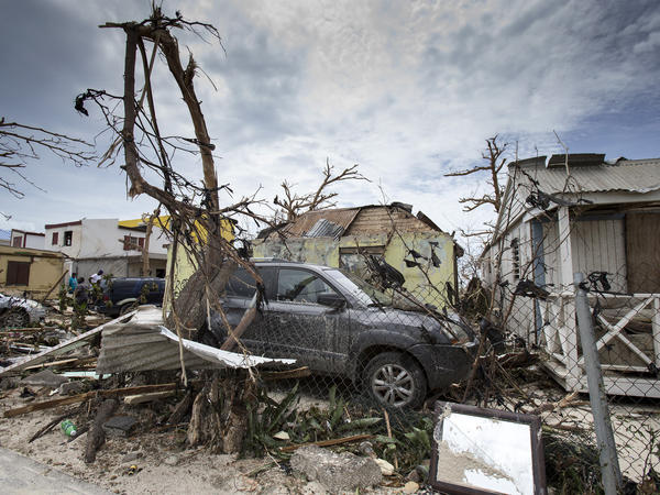 A photo provided by the Dutch Defense Ministry shows storm damage on St. Martin in the wake of Hurricane Irma on Thursday.