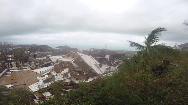 Hurricane Irma devastated parts of St. Thomas, U.S. Virgin Islands, as well several other Caribbean islands when it hit Thursday.