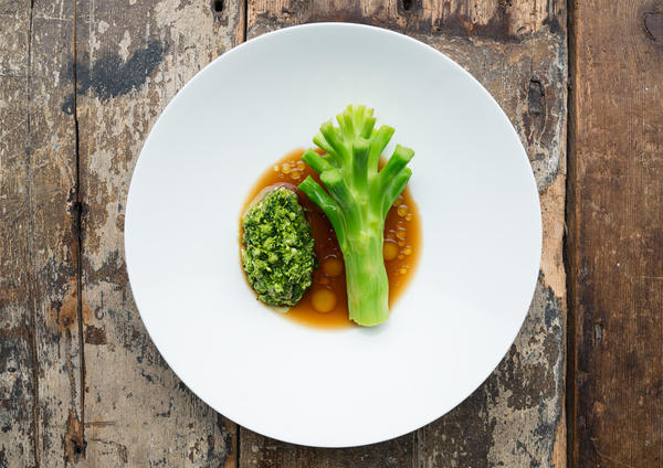The menu at McMaster's Silo highlights byproducts and off-cuts — like broccoli stems.