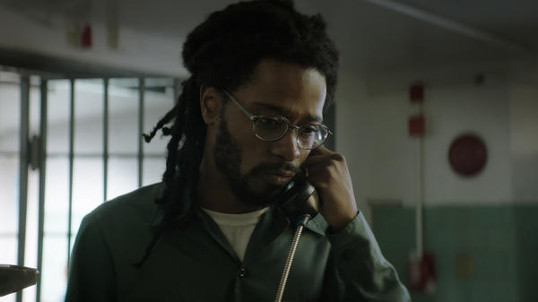 Lakeith Stanfield stars as Colin Warner in the film <em>Crown Heights.</em> Warner was 18 when he was wrongfully convicted of murdering 16-year-old Mario Hamilton. He served 20 years in prison before being exonerated.