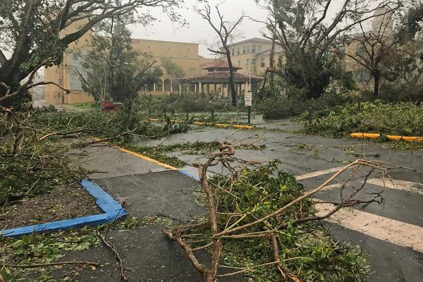 The scene in San Juan after Hurricane Maria passed over Puerto Rico. (Courtesy Miguel Santiago)