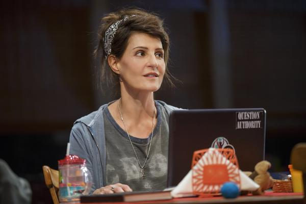 "Nia Vardalos stars in <em>Tiny Beautiful Things, </em>a stage adaptation of Cheryl Strayed's book of <em></em>""Dear Sugar"" advice columns."