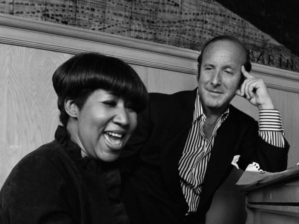 Clive Davis with Aretha Franklin in 1981.