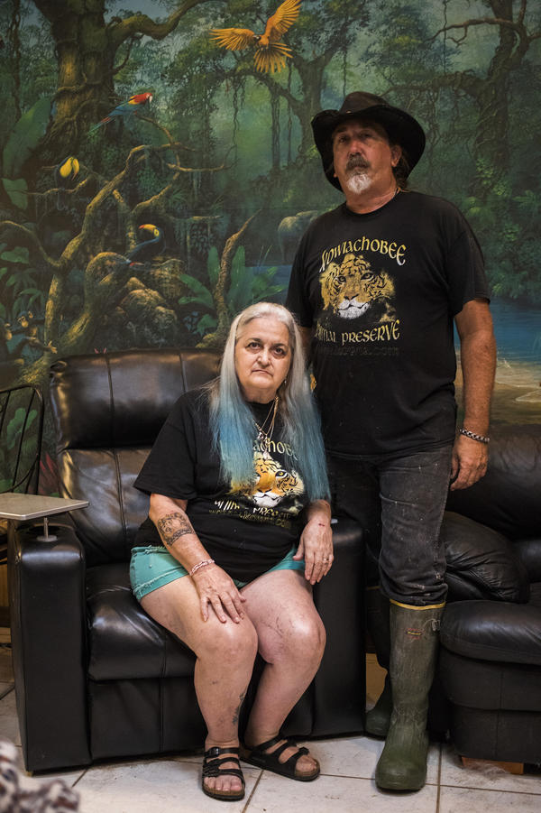 Co-directors Grace and John Slaby live in a home on the Kowiachobee Animal Preserve in Naples, Fla.