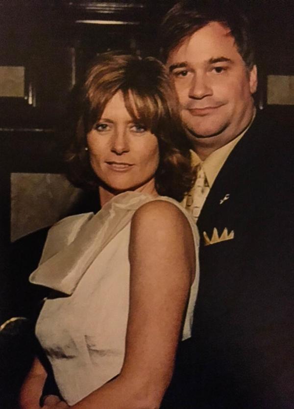 Lynne and Greg Houston on their wedding day, Nov. 2, 2001.