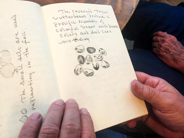 """Seed preservationist John Coykendall, also a trained artist, keeps detailed journals of all of his seed expeditions, something he calls """"memory banking."""""""