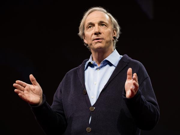 Ray Dalio on the TED stage
