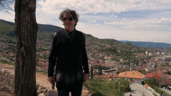 Goran Bregović in his native Sarajevo. Bregović's latest album, <em>Three Letters from Sarajevo</em>, is available now.