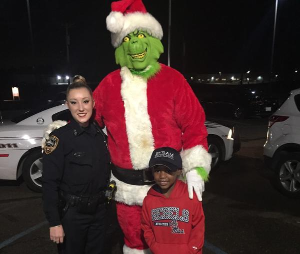Five-year-old TyLon Pittman thought the Grinch was going to steal Christmas, so he called the police in Byram, Miss. Officer Lauren Develle wanted to assure TyLon that the police department had it under control, so she set up an arrest of the mean, green monster.