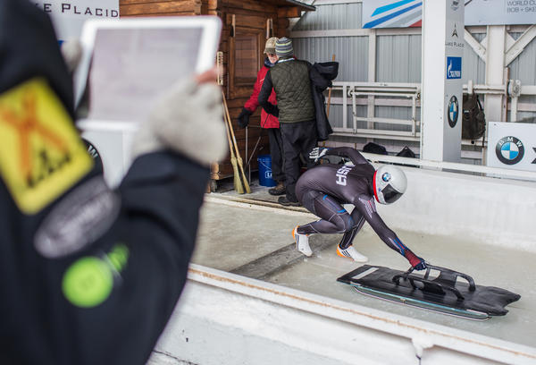Poised on the starting block in Lake Placid, N.Y., Kendall Wesenberg is vying for one of three women's skeleton spots on Team USA for the 2018 Winter Olympics.