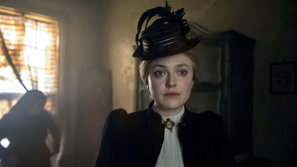 Dakota Fanning as Sara Howard, the first woman hired by the New York Police Department as a secretary to Commissioner Theodore Roosevelt.