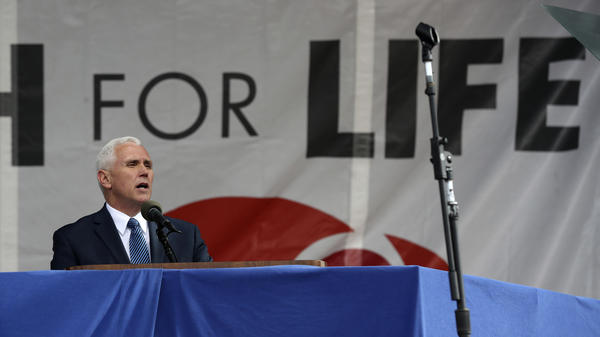 Vice President Pence addressed marchers in 2017.