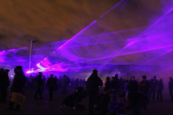 <em>Waterlicht </em>by Daan Roosegaarde represents global warming and rising sea levels.<em></em>