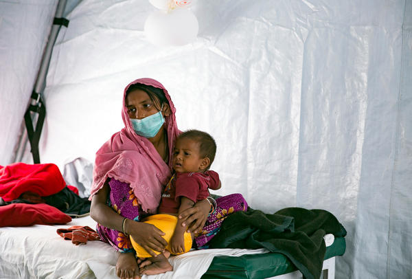 Humanitarian groups have launched a campaign to try to immunize nearly a million people in and around the refugee camps against diphtheria and other vaccine-preventable diseases.