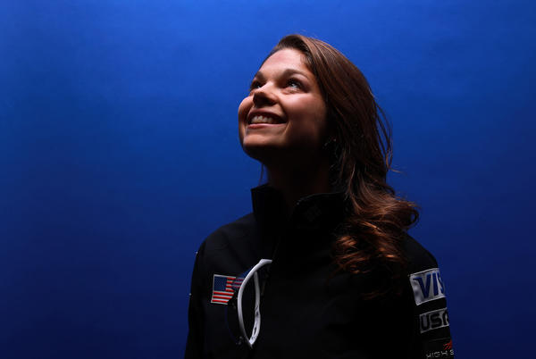 Freestyle skier Ashley Caldwell, shown here in September, began training full-time at age 14.