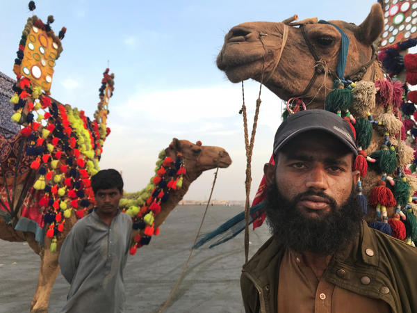 """Shuaib Nawaz, 23, said before he married his childhood sweetheart, he always bought her Valentine's Day gifts. Now they are married with two girls. """"She's mine now, I don't have to buy her gifts,"""" he said with a laugh."""