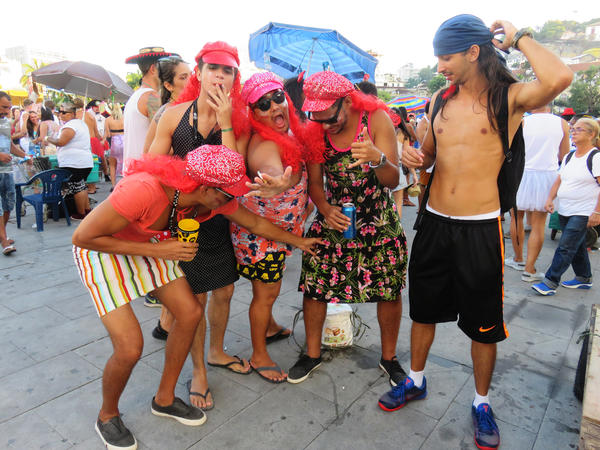 People party en masse during Brazil's Carnival this year.