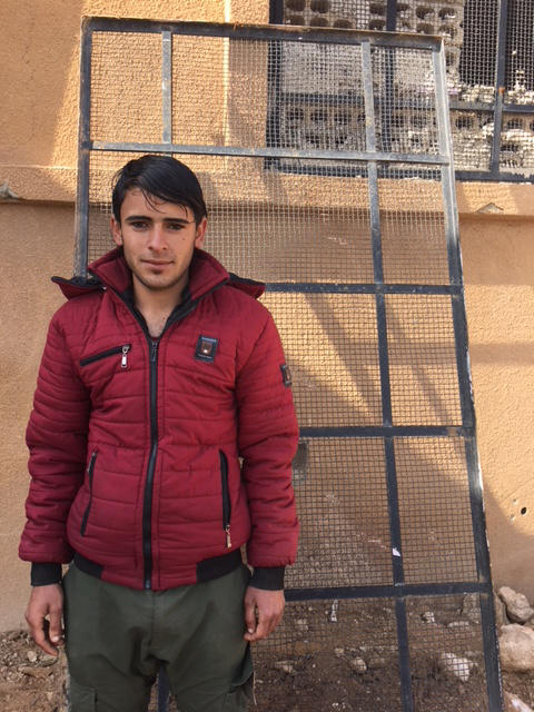 Nabeel Mukhil Hamza is training to learn how to disable explosive booby traps left by ISIS throughout Raqqa.