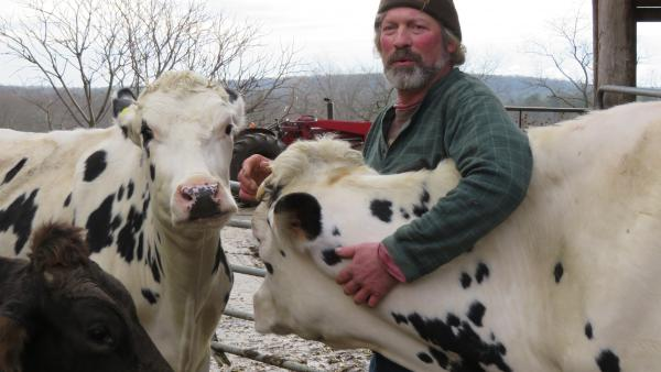 "Rogers says dairy farming is ""all I ever wanted to do,"" but he doesn't know how much longer he can keep his farm going. Milk prices have dropped so low, he's getting paid only about 75 percent of his production costs."