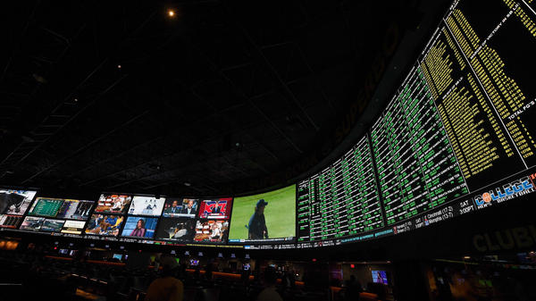 Proposition bets for Super Bowl LI are displayed at the Race & Sports SuperBook at the Westgate Las Vegas Resort & Casino on Jan. 26 in Las Vegas, Nev. — one of four states where sports betting is legal.