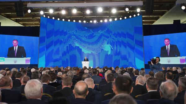 Russian President Vladimir Putin discussed the new missile during his annual state of the nation address in Moscow on Thursday.