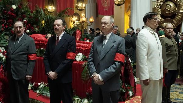 Flunkies of the late Soviet dictator Joseph Stalin jockey for power in Armando Iannucci's new film <em>The Death of Stalin.</em>