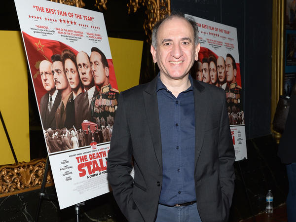 Armando Iannucci at the Los Angeles premiere of <em>The Death of Stalin</em>.