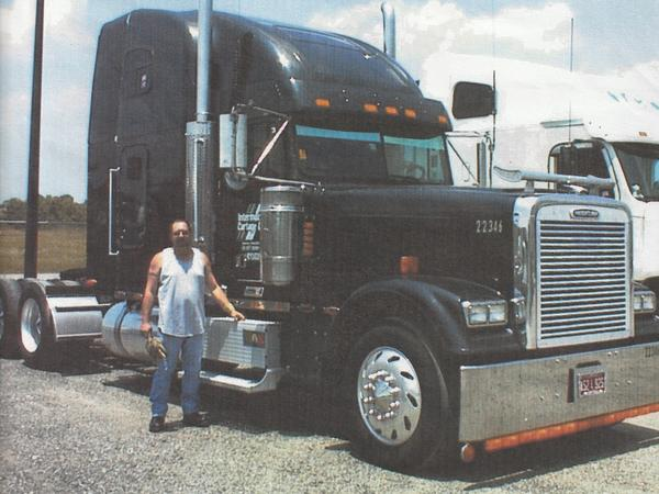 Jeff Runions, during his years as an owner-operator, with his truck.