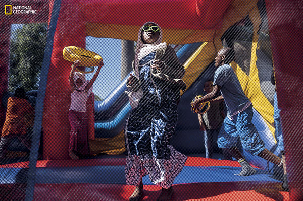 Children in South Los Angeles celebrate Eid al-Fitr, which marks the end of Ramadan, the holy month of fasting, at a picnic co-sponsored by Islah LA, a black Muslim community center.
