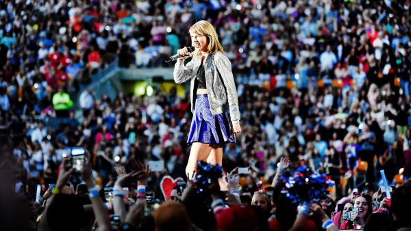 Taylor Swift, performing in 2015 during her <em>1989 </em>tour, has multiple albums on the list of the 150 Greatest Albums Made by Women selected by Turning the Tables readers.
