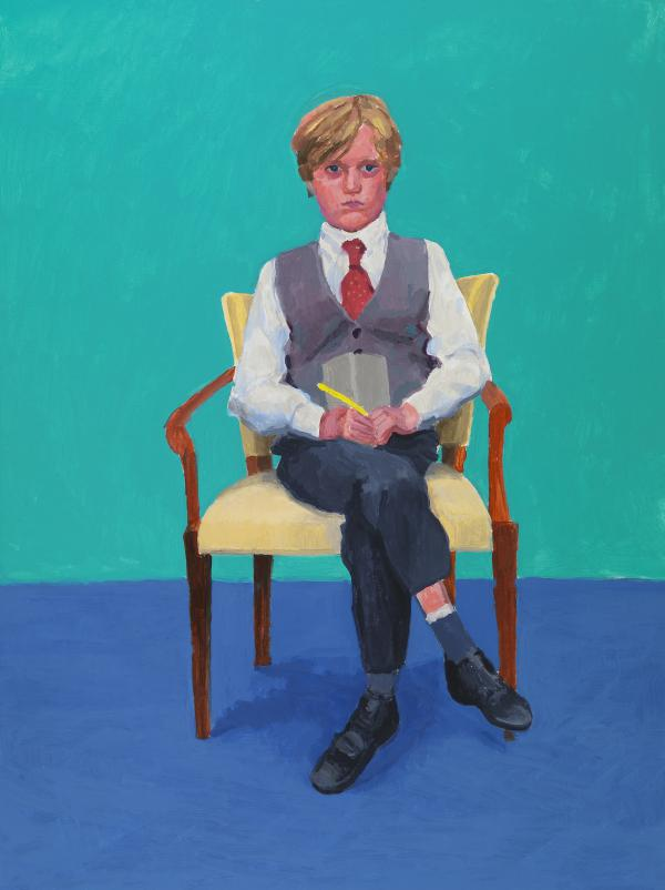 "Rufus Hale was 11 years old when<em> </em>Hockney painted his portrait. It's a ""basically identical"" likeness, Hale says."