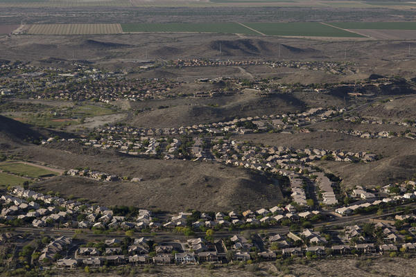 A southbound view of new development in Ahwatukee, part of the Phoenix metro area.